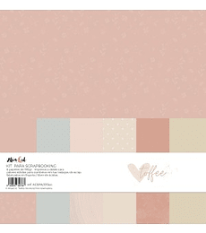 Kit papel colores sólidos Toffee