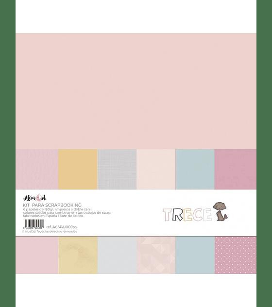 Kit Papeles Sólidos trece
