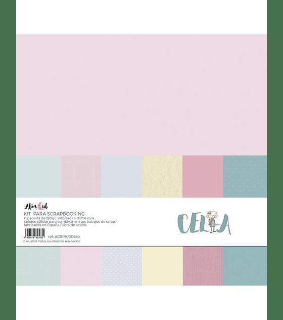 Kit papeles Sólidos Celia
