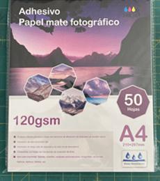 Papel adhesivo mate Fotográfico Lee centro A4