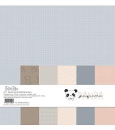 Kit papel colores sólidos Panda