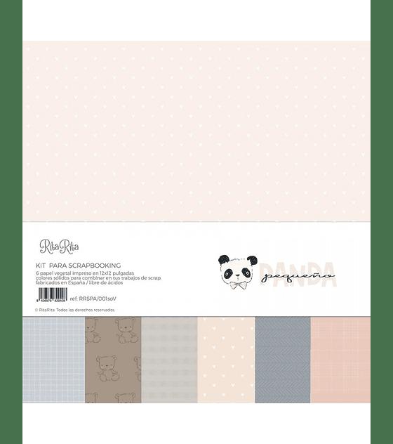 Kit papel vegetal Panda