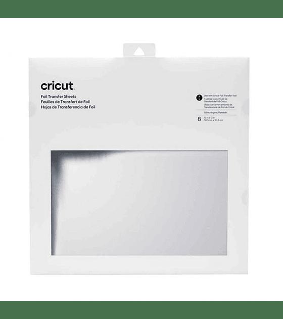 Cricut Hojas Transferencia Folia/Foil 8h 30.4x30.4cm Plata