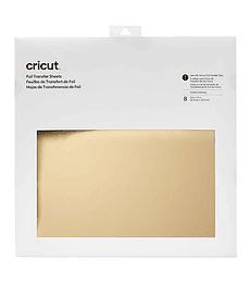 Cricut Hojas de Transferencia Folia/Foil 8h 30.4x30.4cm Oro