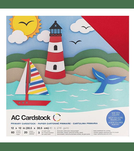 AC Cardstock Colores Primarios – Pack 12×12