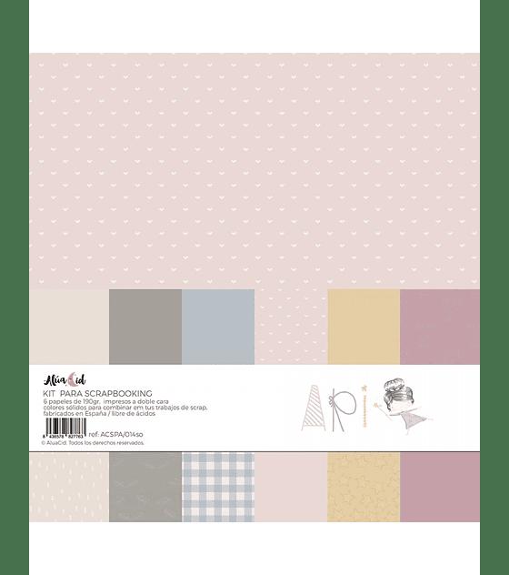 Kit papel colores sólidos ARI