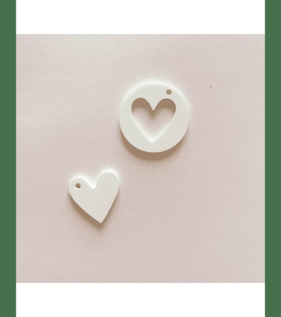 medallón corazon blanco