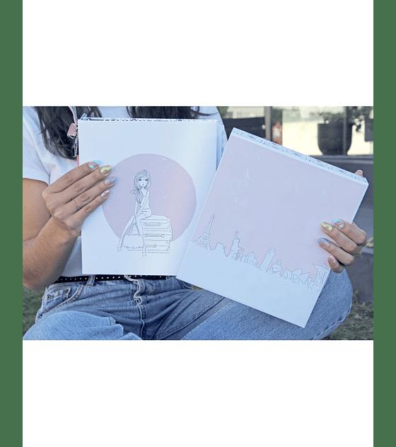 1,2,3 Taller Álbum Cuaderno de viaje