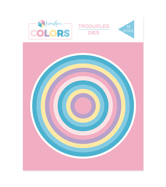 Troqueles básicos Kimidori Colors Círculos