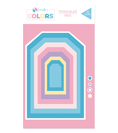 Troqueles básicos Kimidori Colors Tags
