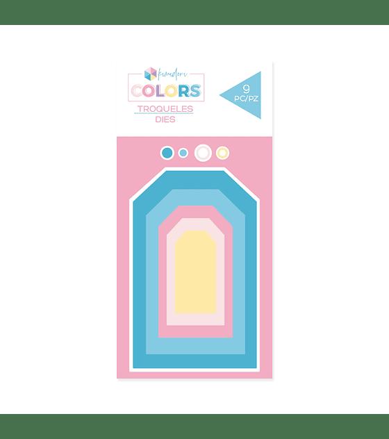 Troqueles básicos Kimidori Colors Mini Tags