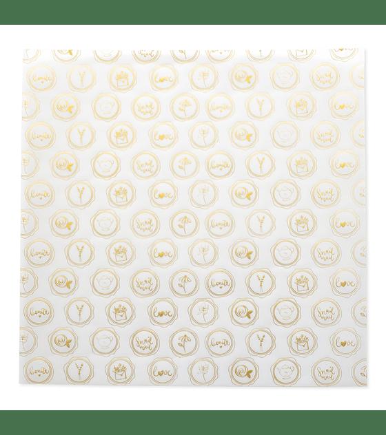 Vellum 12x12 Lacres foil dorado