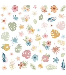 Die cuts flores Aloha de Mintopía