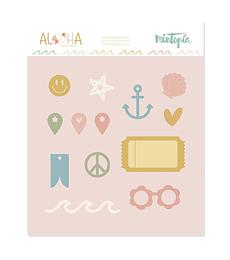 Troquel Mintopía Aloha Tickets e iconos
