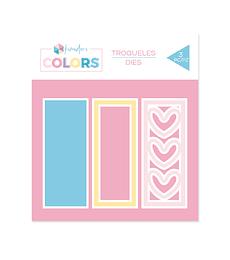 "Troqueles Kimidori Colors Lomo Shaker 4"" Corazones"