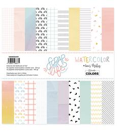 "Stack 12""x12"" Scrap your life Watercolor"