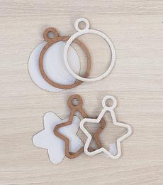 Set Mini Shakers Kimidori Colors Estrella y Círculo