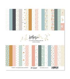 Kit de 18 papeles doble cara de 30,5×30,5 cm BABY M
