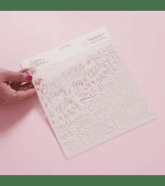 Stencil 20×20 cm GIRL POWER