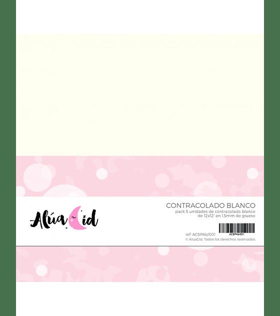 Cartón blanco 5uds.