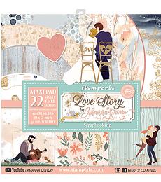 Colección 22 Papeles (Una Cara) LOVE STORY 12×12 Pulgadas descuento 10% por este fin de semana ya incluido