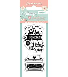 Sello Pequeño LOVE STORY Maquina De Escribir Amor