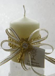 C3269 - Vela decorada com strass dourado
