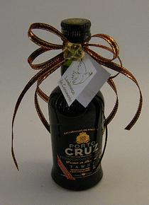 C6144 - Garrafa vinho do porto decorada com laço em fita
