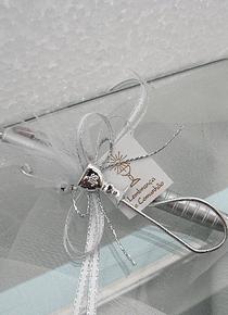 C3298 - Caneta prata decorada comunhão