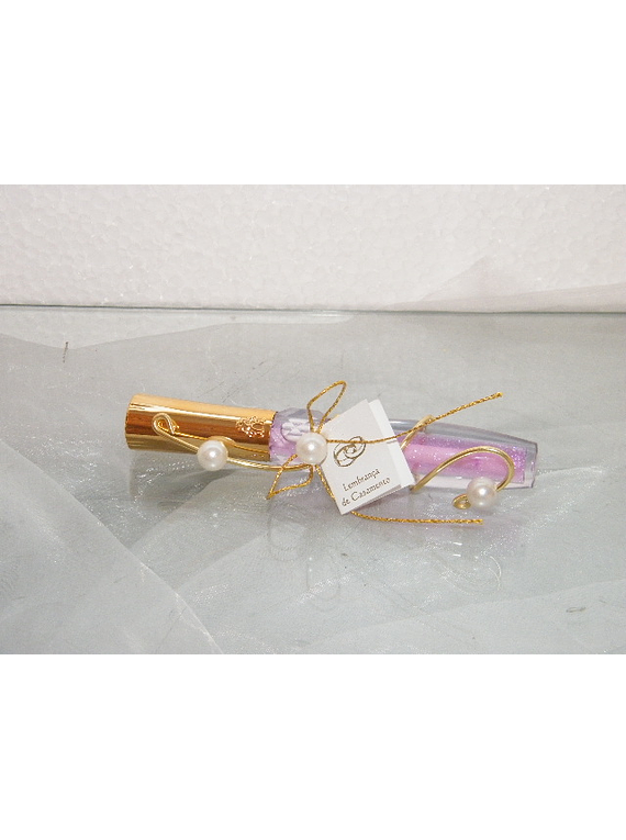 C11025 - Lipgloss decorado com arame dourado