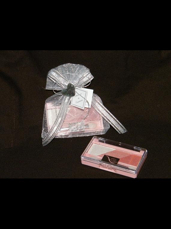 C13035 - Saco organza com sombra decorada com coração prata