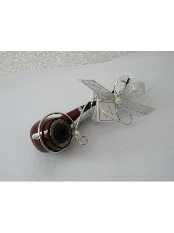 C14612 - Cachimbo decorado com arame e laço