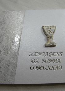 C9083.1 - Livro A5 de mensagens de comunhão em prata