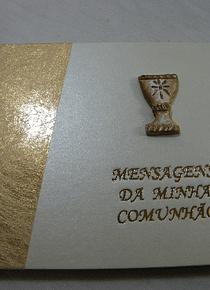 C9083.3 - Livro de mensagens de comunhão A5 em dourado