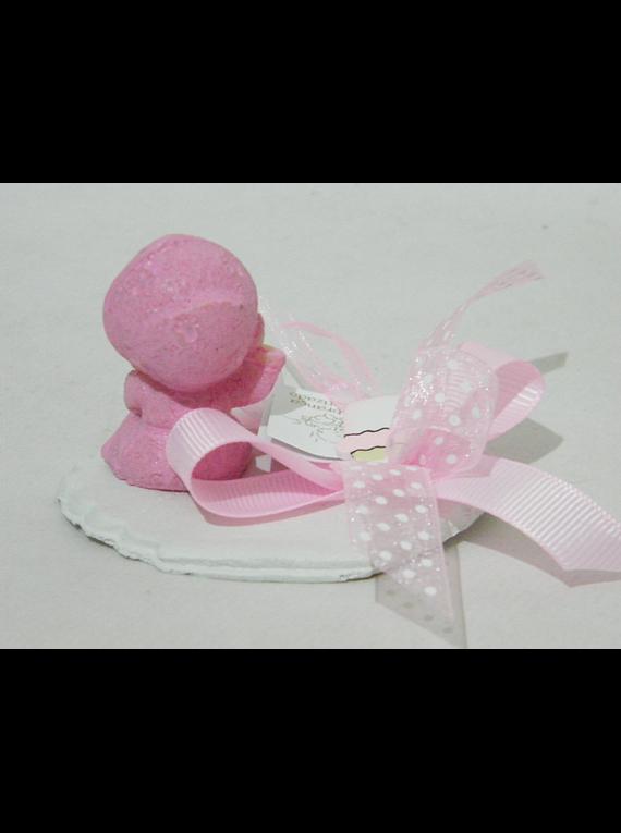 C18234 - Bebé robe rosa sobre base recortada