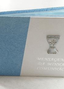 C9083.6 - Livro de mensagem de comunhão em azul