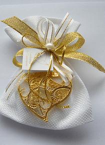 C16001 - Saco quadrilé decorado com coração de Viana