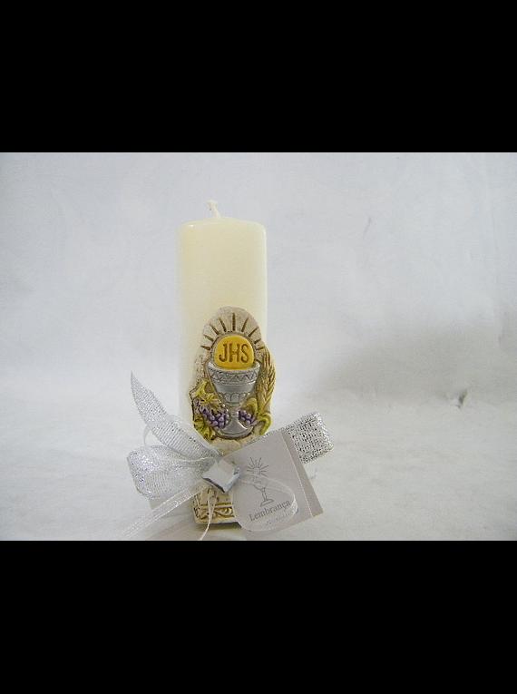 C16371 - Vela retangular decorada com placa ostensório