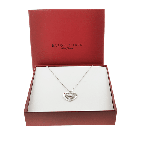 Collar Plata Italiana 925 Corazon