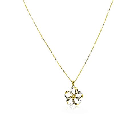 Colgante Oro 18kt Infinito en Flor