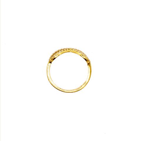 Anillo oro de 18Kt.  Modelo  Infinito  Circón.