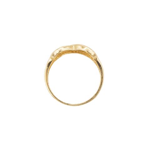 Anillo Oro 18Kt. Combinación Infinito y  Medio Cintillo Circón