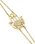 Pulsera de Diamante Oro de 18Kts., Modelo Mano de Fátima