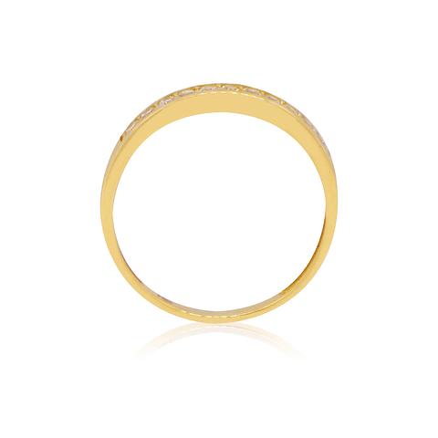 Anillo Oro 18kt Medio Cintillo Circon 3,0mm