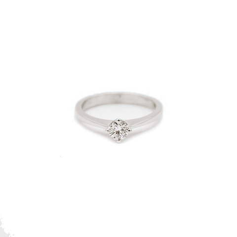 Anillo Oro Blanco 18kt Solitario Diamante 30Pts.