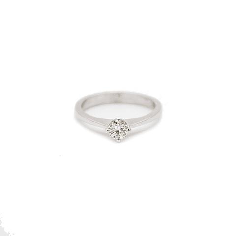 Anillo Oro Blanco 18kt Solitario Diamante 30Pts.
