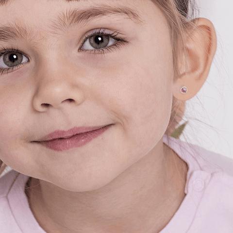 Aros Oro 18kt Punto de Luz Tallado Rosa de Francia 3,0mm