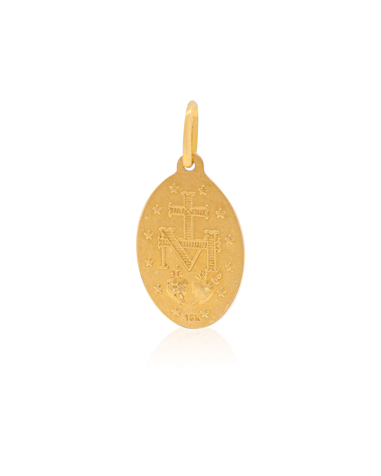 Colgante Oro 18kt Virgen Milagrosa 19mm