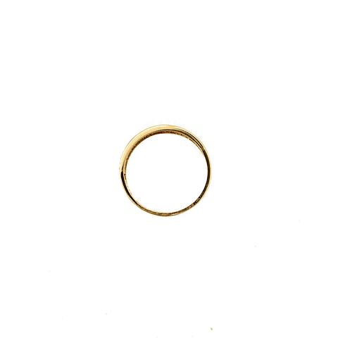 Anillo Oro 18kt Medio Cintillo Circon.