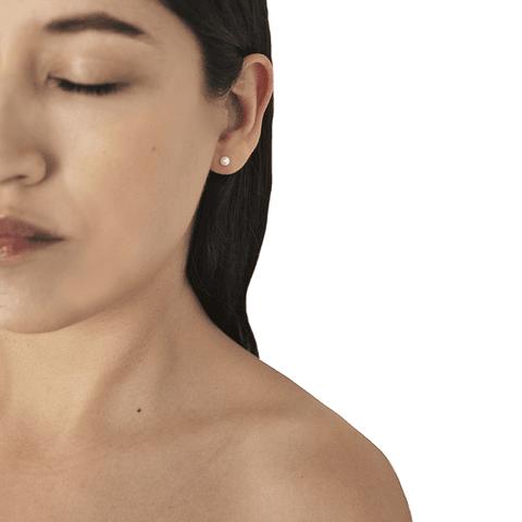 Aros Oro 18kt Perla Cultivada 4mm
